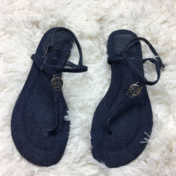 acc8d728f57a Tory Burch Emmy denim thong sandals